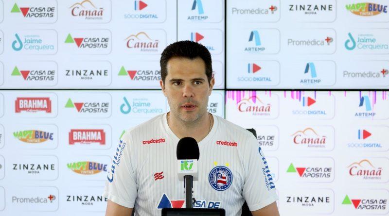 """Preparador Físico do Bahia avalia condição física dos atletas estrangeiros contratados: """"Eles têm que se adaptar rápido""""   Resenha na Rede"""