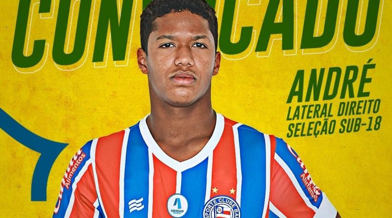 Bahia Notícias / Esportes / E.C. Bahia / Lateral direito do Bahia é convocado para Seleção Brasileira sub 18   20/10/2021