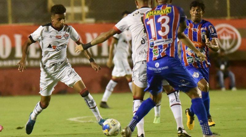 Bahia Notícias / Esportes / E.C. Vitória / Vitória bate o Itabaiana e avança para a última fase da Pré Copa do Nordeste   19/10/2021