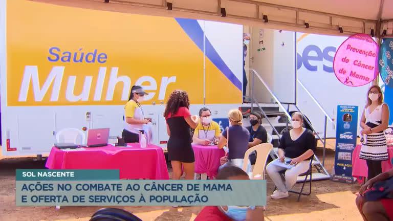 Secretaria de Justiça e Cidadania promove ações no combate ao câncer de mama no Sol Nascente   Brasília   R7 Balanço Geral DF
